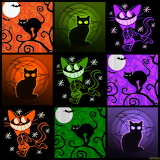 Collage 296 Halloween cats