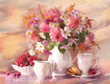 #Flower Tea Set Still Life