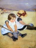 "Art tumblr campsis ""Children Playing at the Beach"" ""Mary Cassatt"
