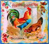 Royal Rooster vintage crate label
