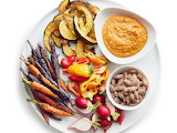 ^ Crudites with Romesco Sauce