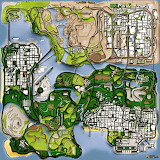 Grand Theft Auto - San Andreas, worldmap