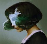 Hair seawave or Seawave hair, Digital Illustration