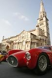 A classic Maserati in Piazza Grande Modena Italy