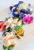 Colorful gourmet food