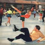 Skate Date~ vintage magazine art