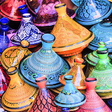 Colorful Tajine Pots