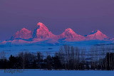 Tetons at sunrise from the Idaho side
