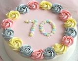Rosy birthday cake