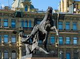 Покорение коня Аничков мост Санкт-Петербург