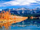 Lake Talbot and Mountains Edmonton Alberta Canada