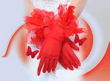 Vintage tulle fingertip gloves
