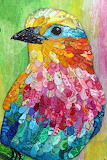 Rainbow Bird Collage