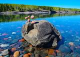 Balancing rocks Sugarloaf Cove Lake Superior Minnesota