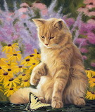 Cat painting by Lucie Bilodeau