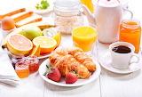 Strawberry Juice Coffee Croissant Breakfast