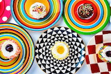 #Colorful Plates and Cupcakes by Garry Gay