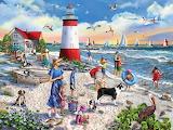 Lighthouse Beach - Mary Thompson