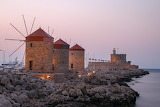 Mandraki Harbour Windmills, Rhodes
