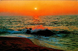 Mer-coucher de soleil