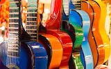 Musical instruments colorful