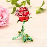 Hand Painted Rose Trinket