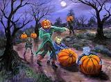 Halloween pumpkin roll