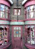 Door Madam Puddifoot's tea shop