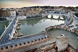 Tiber from Castel Sant Angelo Rome Italy