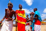 African tribe dancers