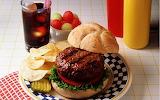 ^ Hamburger, fries, fruit cup & Coke