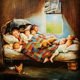 Family Marcel Kristal painting