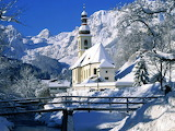 Church In The Mountains in Snow