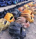 baseball shoes & gloves