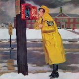 Crossing Guard Fixing Her Makeup~ Richard Sargent winter