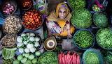 Woman vegetable market Rajasthan