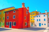 Colours-colorful-colored houses in the historic center of Caorle