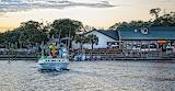 boat leaving Dead Dog Saloon Pawleys Island