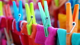 Clothespins, laundry, colorful