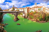 River town of Cividale del Friuli with its' devil's bridge