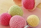 Crocheted ice cream