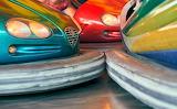 Bumper cars, track, amusement park,