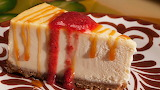 ^ Cheesecake slice
