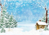 Winter Houses Snow Snowflakes Spruce Snowmen 537081 1280x905
