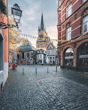 Morning walk through Aachen Germany near Cathedral of Aachen
