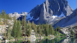The Rocky Mountains and Calm Lake USA