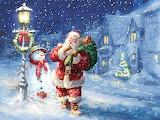 Santa-Christmas night-painting-Marcello Corti