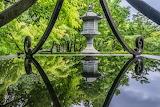 Water, trees, Park, reflection, temple, Japan, Kyoto, Eikando Te
