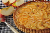 ^ Apple custard tart