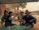 Emile Friant, La discussion politique, 1889